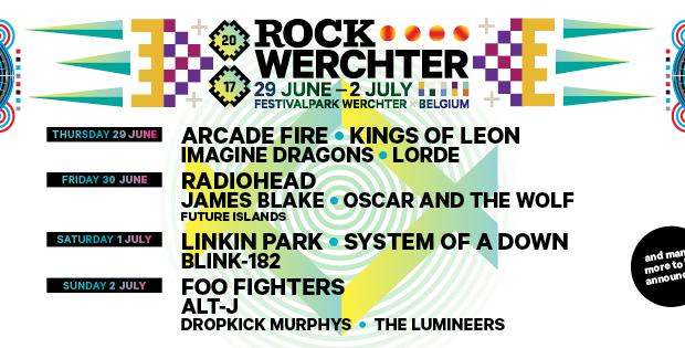 Lorde, James Blake, The Lumineers, Dropkick Murphys en Future Islands worden toegevoegd aan affiche Rock Wechter!