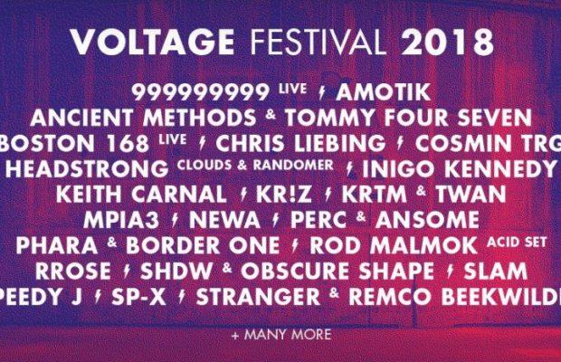 Straffe affiche voor Voltage Festival @ Transfo-site in Zwevegem!