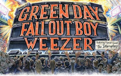 Green Day, Fall Out Boy en Weezer op 17 juni @ Sportpaleis!